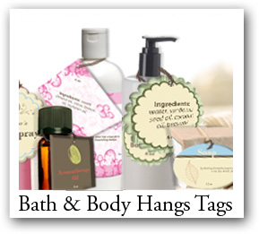 body care products tags, shampoo bottle tags, soap tags, craft hangtags
