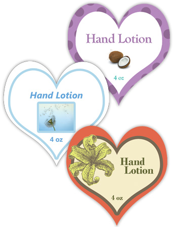 Heart Bath and Body Labels