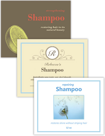 Bath and Body Horizontal Rectangle Labels
