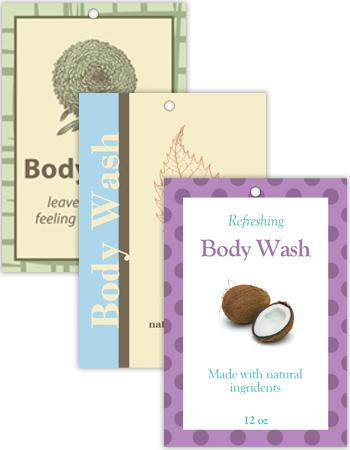 Vertical Rectangle Bath&Body Hang Tag