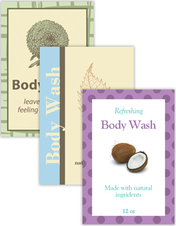 Bath and Body Vertical Rectangle Labels