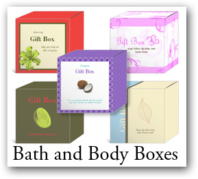 custom favor boxes, bath product boxes