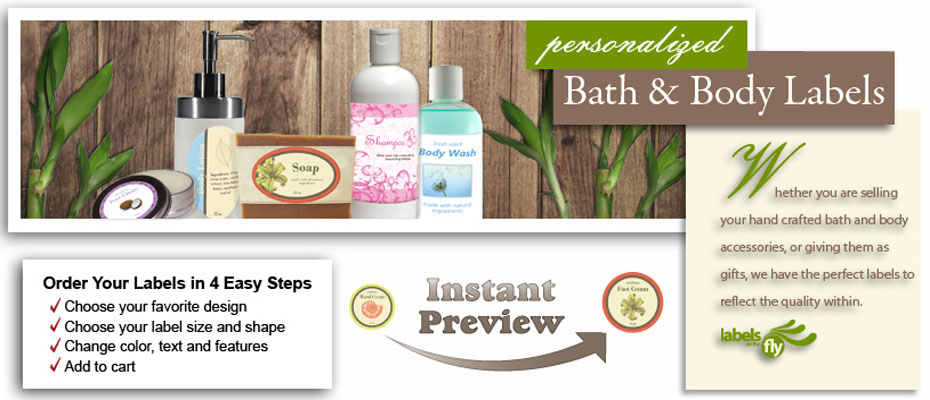 Bath and Body Products Custom Labels