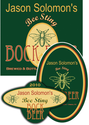 Bee Beer Labels
