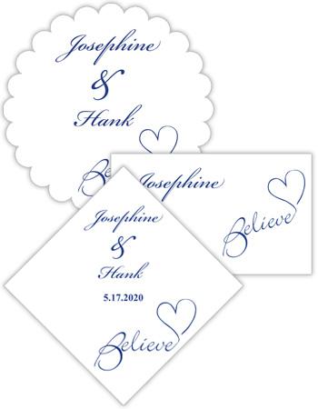 Believe Swirly Wedding Labels