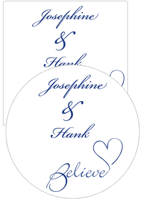 Believe Swirly Wedding Coasters
