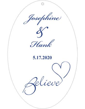 Believe Swirly Wedding Hang Tag