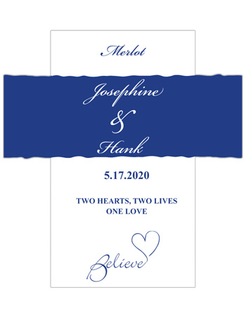 Believe Swirly Wine Wedding Labels
