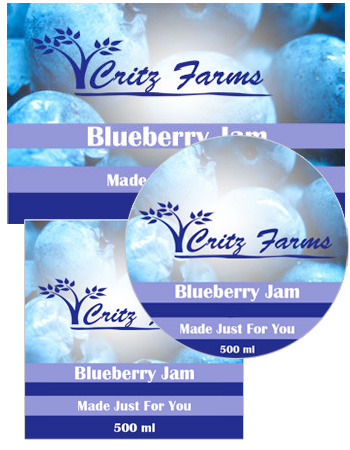 Berry orchard food and craft labels