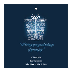 Big Present Ribbon Christmas Hang Tags