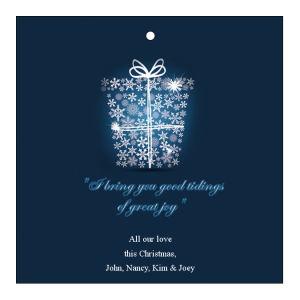Big Present Ribbon Christmas Hang Tags