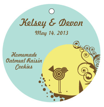 Birds Nest Food and Craft Hang Tags