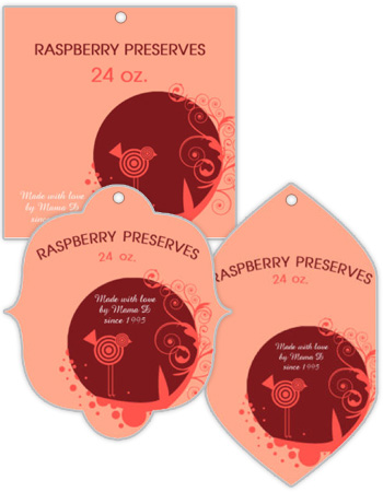 Birds Nest Canning Favor Tags
