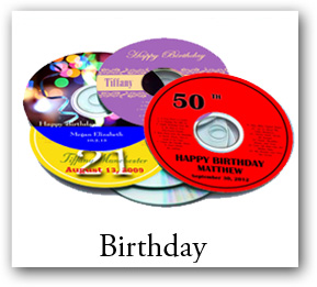 Birthday CD DVD Labels