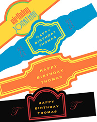 Birthday Cigar Band Labels