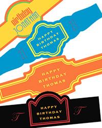 Birthday Cigar Band Labels