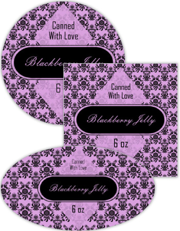 Blackberry Canning Labels