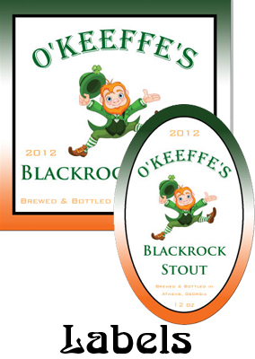 Blackrock Stout Saint Patricks Day Labels