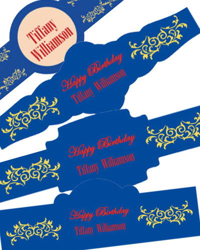 Border Birthday Cigar Band Labels