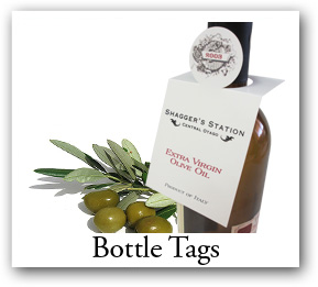 bottle tags, wine bottle tags, oil bottle tags, bottle hangtags