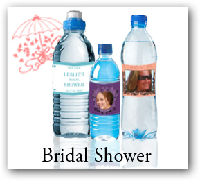 Bridal Shower waterbottle labels