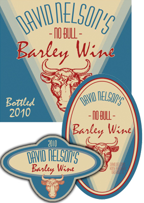 Bull Beer Labels