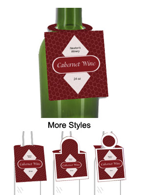 Cabernet Wine Bottle Tags