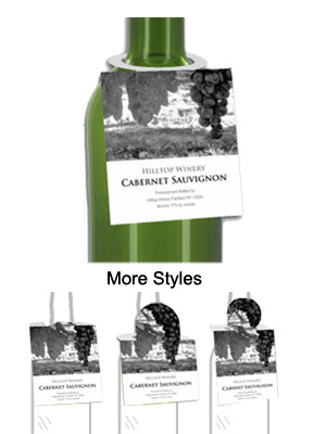 California Wine Bottle Tags