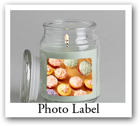candle photo labels, Personalized photo labels