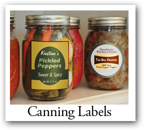 canning labels, canning products labels