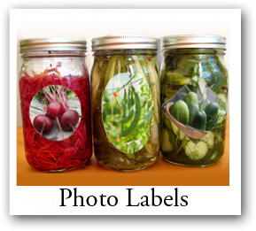 food and craft photo labels