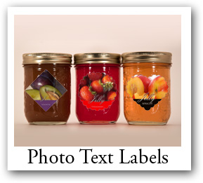 canning photo labels with text