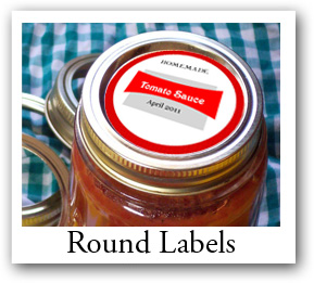 round photo labels, Personalized circle labels