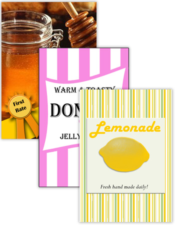 Vertical Rectangle Canning Labels