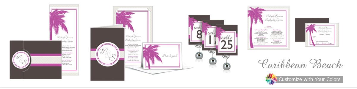 Caribbean Beach Wedding Invitations