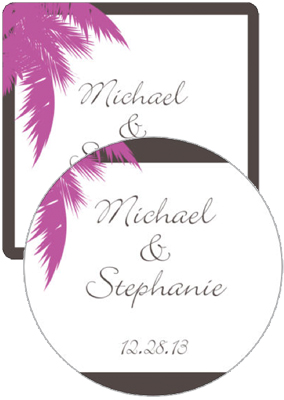 Caribbean Beach Wedding Coasters
