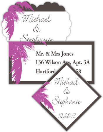 Caribbean Beach Wedding Labels
