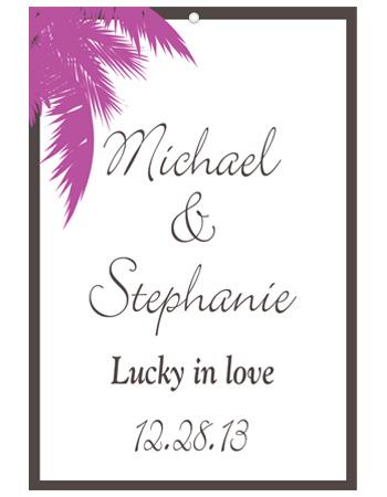 Caribbean Beach Wedding Hang Tag