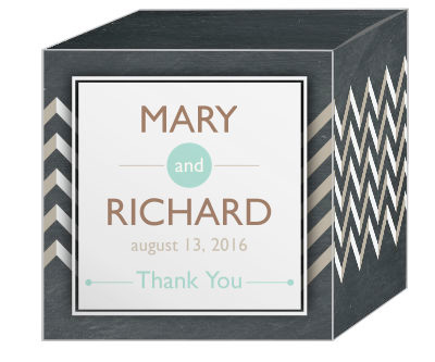 Chalkboard Chevron Favor Boxes