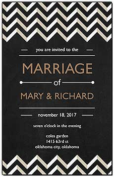 Chalkboard Chevron Wedding Invitations