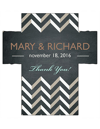 Chalkboard Chevron Wine Wedding Labels