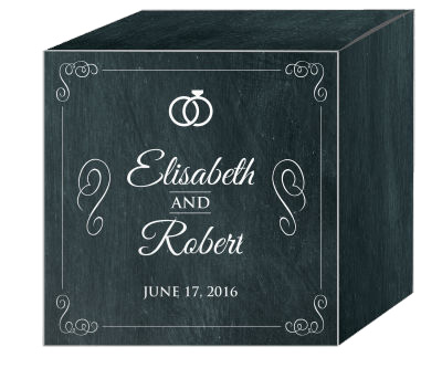 Chalkboard Rings Favor Boxes