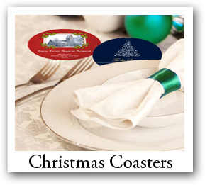 Personalized Christmas Coasters, Photo Coasters, Custom Coasters