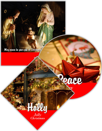 Christmas Photo Labels with Text