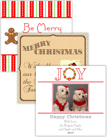 Christmas Square Labels