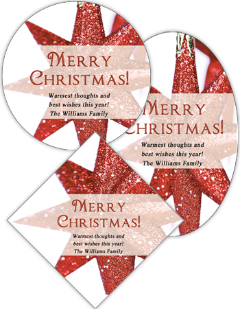 Christmas Star Labels