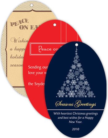 Vertical Oval Christmas Hang Tag