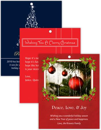 Vertical Rectangle Christmas Hang Tag