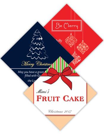 Christmas Diamond Labels