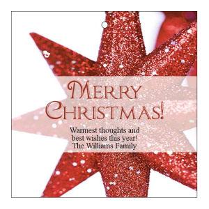 Christmass Star Christmas Hang Tags
